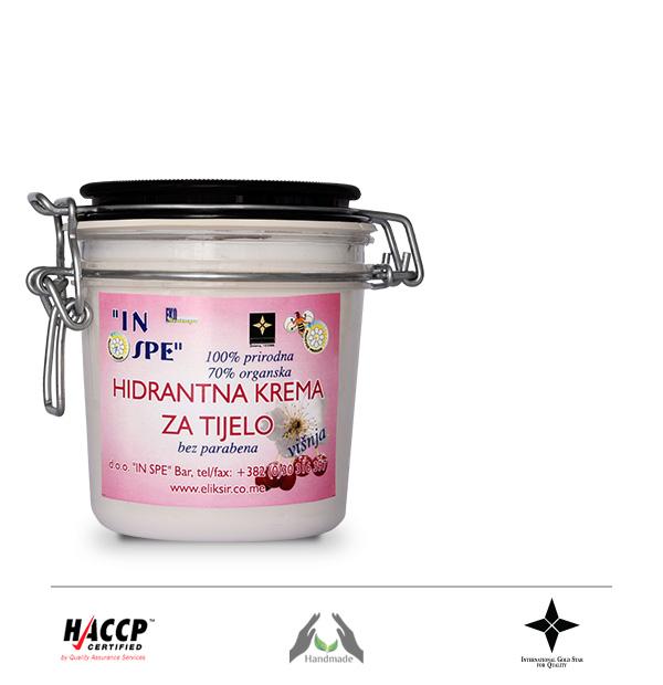 Prirodna hidrantna krema za tijelo