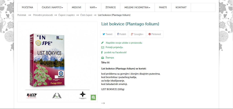 List bokvice (Plantago folium)