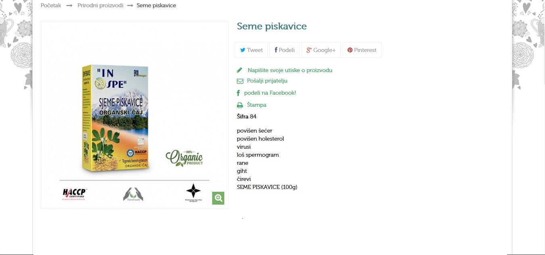 Sjeme piskavice (Trognella Foenum-Graecum)