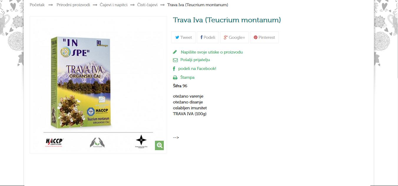 Trava Iva (Teucrium montanum)