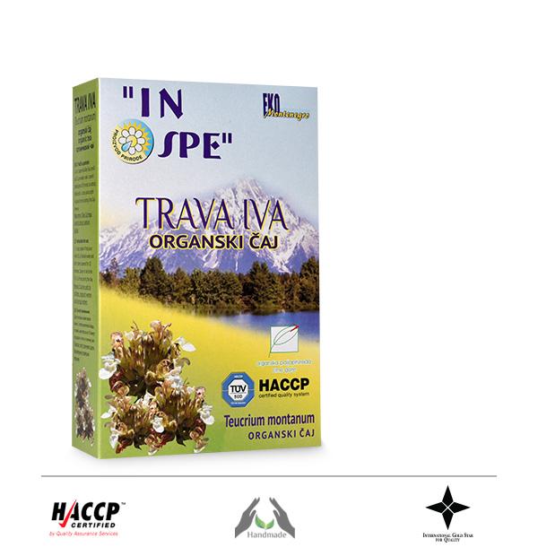 Čaj od lista, cvijeta i stabljike Trave Ive (Teucrium montanum)
