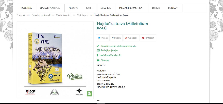Hajdučka trava (Millefolium flos)