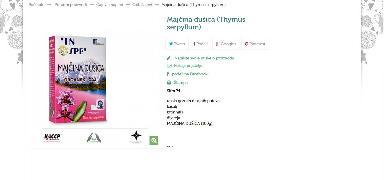 Majčina dušica (Thymus serpyllum)