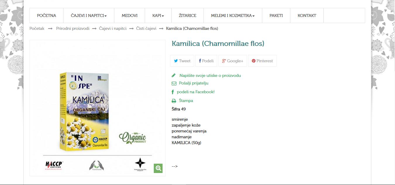 Kamilica (Chamomillae flos)