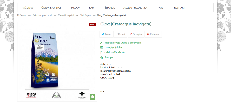 Glog ( Crataegus leavigata)