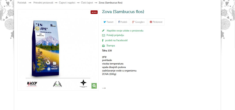 Zova (Sambucus flos)